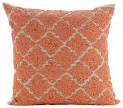 The HomeCentric Orange Medallion Orange Cotton Linen Throw