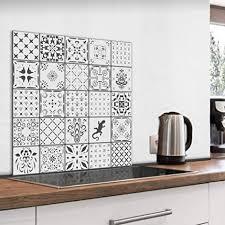murando spritzschutz glas für küche 60x60 cm küchenrückwand küchenspritzschutz fliesenschutz glasbild dekoglas küchenspiegel glasrückwand fliesen