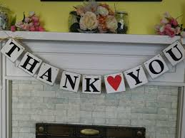 Rustic Style THANK YOU Cards Wedding Banner Garland Reception Sign Photo Booth Prop Can