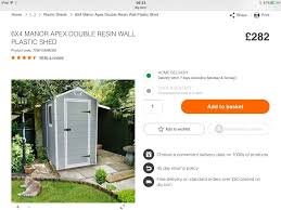 Keter Manor Plastic Shed 4 X 6 by Keter Shed 6x4 Forest Honey Brown Overlap Apex Wooden Shed Keter