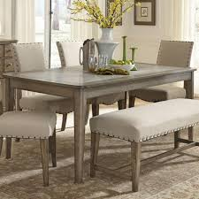 Wayfair Kitchen Bistro Sets by Liberty Furniture Weatherford Rustic Casual Rectangular Leg Table