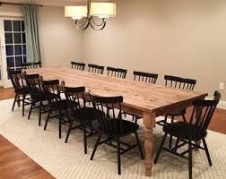 Extra Large Farmhouse Table Long Farm Custom Wood Rustic Kitchen Barn Modern