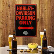 Harley Davidson Bath Decor by Harley Davidson Parking Only Metal Street Sign Garage Decor