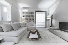 ton in ton einrichtung grau weiß für die interieur
