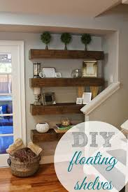 Rustic Style Bedroom Decor With Floating Shelves From Reclaimed Wood