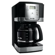 Mr Coffee Thermal Carafe Advanced Brew Cup Programmable Maker Black Stainless