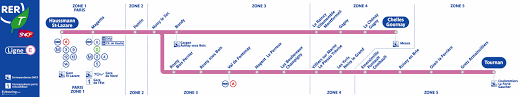 sncf and ratp rer maps for and ile de