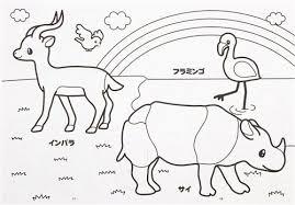 Cute Animal Coloring Book Drawing Japan 3