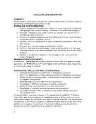 Lifeguard Duties For Resume Last Best S Of Examples Rx E64223