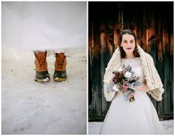 Rustic Bride In Winter Boots Holiday Table Wedding Inspiration