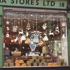 xc004 weihnachten statische strom anhänger shop schaufenster aufkleber hintergrund dekoration abnehmbare schlafzimmer wohnzimmer wand stic