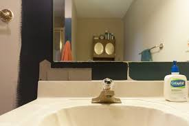 Paint Color For Bathroom With Almond Fixtures by Russet Street Reno A Dramatic Bathroom