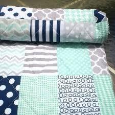 blue and grey patchwork quilt blue grey striped teen boy bedding
