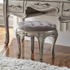 Vanity Chair With Wheels by Amazon Com Pulaski Rhianna Vanity Stool Kitchen U0026 Dining