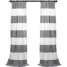 Black And White Striped Curtains by 108