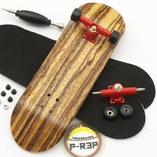 Peoples Republic Zebra Complete Wooden Fingerboard W Nuts Trucks ...