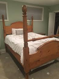 Ed Bauer Four Poster Queen Bed & Nightstand