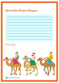 Carta Reyes Magos Imprimible Three Wise Men Printable Letter Niños