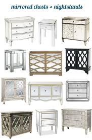 best of mirrored chests and nightstands nightstands glamour