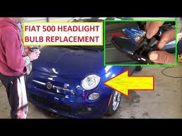 fiat 500 headlight bulb replacement left and right headlight 2008