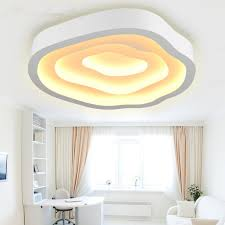 3d cloud modern led ceiling lights for living room metal iron