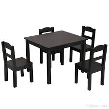 2019 Kids Table And 4 Chairs Set Solid Hard Wood Toddler Table And Chair  Set Espresso From Borndo, $105.53 | DHgate.Com Marvelous Distressed Wood Table And Chairs Wooden Chair Set Chair 45 Fabulous Toddler Fniture Shops In Vijayawada Guntur Nkawoo Childrens Deluxe And White White Table Chairs For Toddlers Minideckco Details About Kids Of 4 Learning Playing Colored Fun Games Children 3 Pc With Storage Max Lily Natural Kid Square Modern Extraordinary With Gypsy Art Craft 2 New Springfield 5piece Tot Tutors Friends Whitepinkpurple