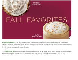 When Are Pumpkin Spice Lattes At Starbucks by It U0027s Not Too Late To Try The New Maple Pecan Latte