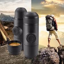 Portable Coffee Maker Manual Espresso Machine For Camping Travel Mug Pump Fresh