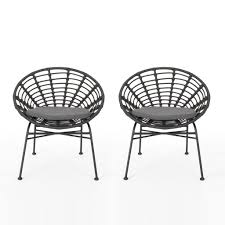 Cohen Outdoor Wicker Dining Chair With Cushion (Set Of 2) Lotta Ding Chair Black Set Of 2 Source Contract Chloe Alinum Wicker Lilo Chairblack Rattan Chairs Uk Design Ideas Nairobi Woven Side Or Natural Flight Stream Pe Outdoor Modern Hampton Bay Mix And Match Brown Stackable