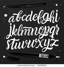 Handwritten Brush Style Modern Calligraphy Cursive Font For Postcard Logo Design Poster Decorative
