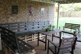 Black Pallet Patio Furniture Designs