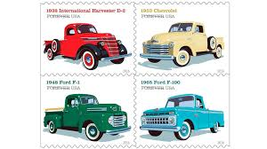 100 1938 International Truck Four Classic American Trucks On New Stamps Because America