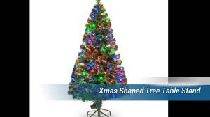 Swivel Straight Christmas Tree Stand by Xmas Shaped Tree Table Stand Youtube