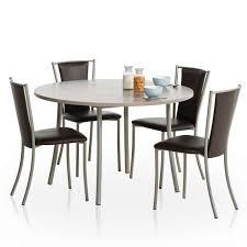 table ronde de cuisine table ronde de cuisine en stratifié bis 4 pieds tables