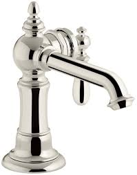 Unlacquered Brass Lavatory Faucet by Kohler K 72762 9m Sn Artifacts Single Handle Bathroom Sink Faucet