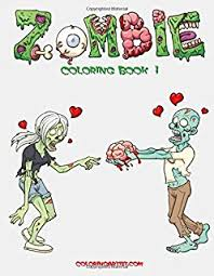 Zombie Coloring Book 1 Volume