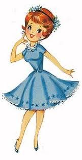 Girl Blue Dress Clipart