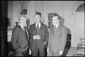 File Jimmy Carter Gerald Ford and Richard Nixon gather at the