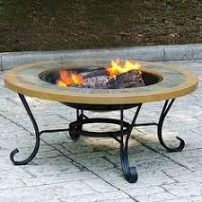 wood outdoor firebowl with mesh hearth fireplace wayfair home