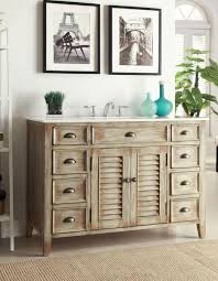 Unfinished Bathroom Cabinets And Vanities by Bathroom Ideas Teak Wood Bathroom Vanity In Distressed Style