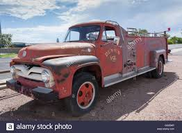1940s Ford V8 Vintage Fire Truck In Seligman Arizona On Route 66 ...