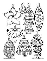 Pin Drawn Christmas Ornaments Color 1