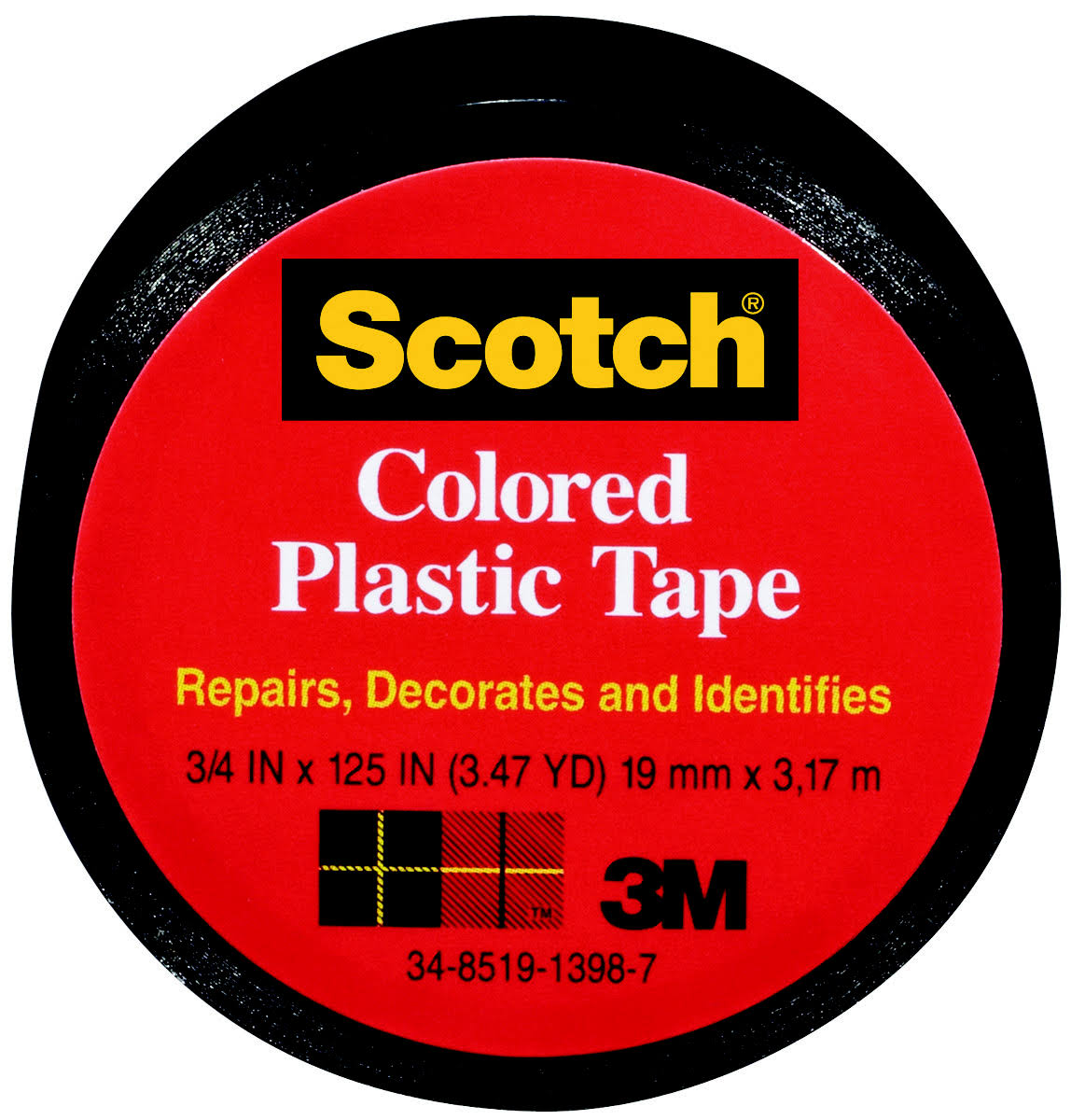 Scotch Colored Plastic Tape - Black