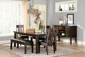 Haddigan Dinette 4 Chairs 1 Bench By Ashley D596