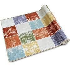 teppichläufer capera patchwork muster im vintage look