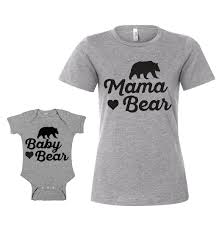 Mama Bear And Baby Matching Outfits