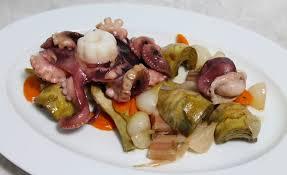 cuisiner le poulpe de poulpe de roche légumes barigoule par alain ducasse
