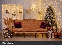 weihnachten hintergrund geschmücktes wohnzimmer mit