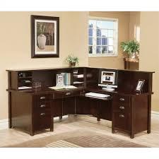 Cymax Desk With Hutch by Kathy Ireland Home By Martin Tribeca Loft Cherry Rhf L Shaped
