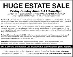 Machine Shed Des Moines Gift Shop by Huge Estate Sale Red Shed Estate Sales Hayward Wi